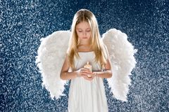 Droevige engel Royalty-vrije Stock Foto's