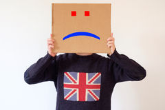Droevige Engelse mens Stock Foto