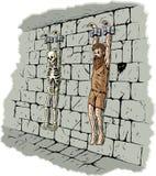 Droevige gevangene Royalty-vrije Stock Afbeeldingen