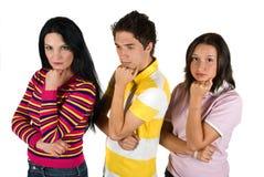 Droevige jonge mensen Stock Foto