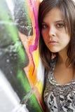 Droevige Jonge Vrouw royalty-vrije stock foto's