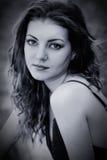 Droevige jonge vrouw Stock Foto