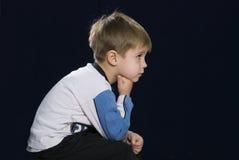Droevige jongen Royalty-vrije Stock Foto's