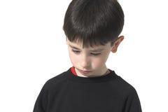 Droevige jongen Stock Foto