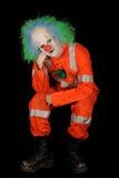 Droevige mannelijke clown Stock Fotografie