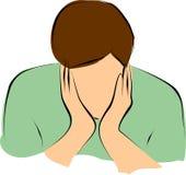 Droevige mens vector illustratie