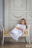 Droevige mooi weinig engel Royalty-vrije Stock Afbeeldingen