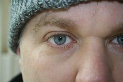 Droevige ogen Stock Foto's