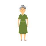 Droevige oude vrouw vector illustratie