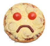 Droevige pizza royalty-vrije stock foto