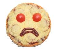 Droevige pizza royalty-vrije stock afbeelding