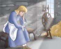Droevige prinses - Sprookjes Stock Afbeeldingen