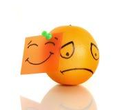 Droevige sinaasappel royalty-vrije stock foto