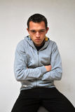 Droevige teleurgestelde jonge mens Stock Foto's
