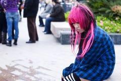 Droevige tiener Stock Foto