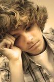 Droevige tiener Stock Fotografie