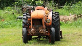 Droevige tractor Royalty-vrije Stock Afbeelding
