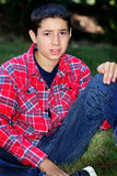 Droevige Tween Jongen Stock Foto's