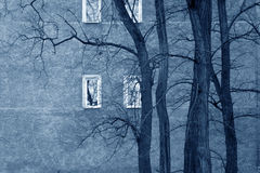 Droevige vensters Stock Afbeelding