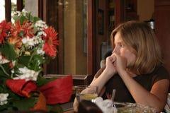 Droevige Vrouw stock foto