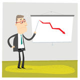Rode Grafiek Stock Foto's