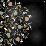 Drog blommor för kritastil hand. Royaltyfria Foton