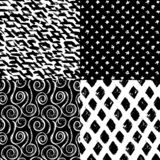 Drog borsten för färgpulver slår handen sömlösa designer för modellsamling fyra stock illustrationer