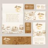 Drog frukost- och filialbakgrunder för vektor hand Royaltyfri Fotografi