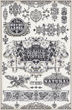 Drog grafiska baner och etiketter för tappning hand Royaltyfri Bild