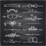 Drog grafiska beståndsdelar för svart tavla hand Royaltyfria Bilder
