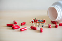 Drog overdose concept Stock Image