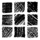 Drog texturer för färgpenna hand Frihandsteckningsbeståndsdelar Arkivbild