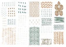 Drog texturer för vektor hand Royaltyfria Bilder