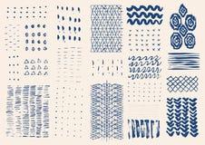 Drog texturer för vektor hand Arkivbilder