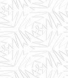 Drog upp konturerna av pappers- vita pointy komplexa trefoils Royaltyfria Bilder