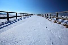droga śnieżna Zdjęcia Royalty Free