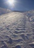 droga śnieg obraz royalty free