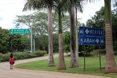 Droga antyczny miasto Uxmal zdjęcie stock