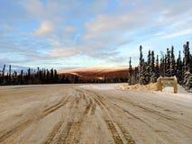 Droga Arktyczny okrąg zdjęcia stock