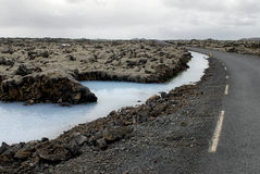 droga błękitnej laguny, Fotografia Royalty Free
