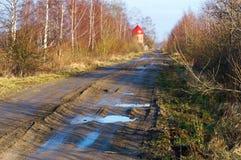 Droga, brud, ścieżka, kałuża ziemia, ziemia, ziemia, brud, ziemia Fotografia Stock