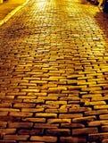 Droga brukująca z granitem Obrazy Royalty Free