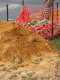 Droga budynku boczny piasek i materiały na naturze obdzieramy Obraz Stock