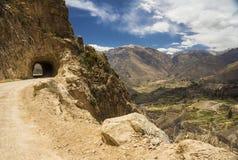 Droga Cruz Del Kondor punktu obserwacyjnego punkt, Colca dolina, Arequipa, P Zdjęcia Royalty Free