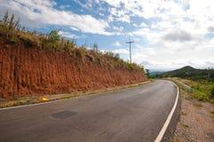 Droga czerwieni ściana Zdjęcie Stock