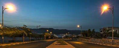 Droga Czerwony morze, Eilat, Izrael Zdjęcia Stock