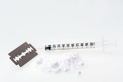Droga de la cocaína Imágenes de archivo libres de regalías