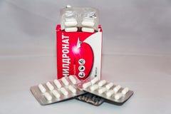 Droga de Meldonium adicionada ao bloco proibido s do russo da lista do ` da agência do anti-doping do mundo imagem de stock