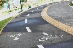 Droga dla jechać na rowerze Zdjęcia Royalty Free