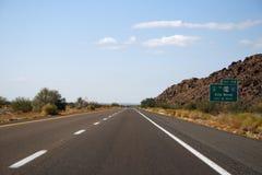 droga do końca świata Zdjęcia Stock